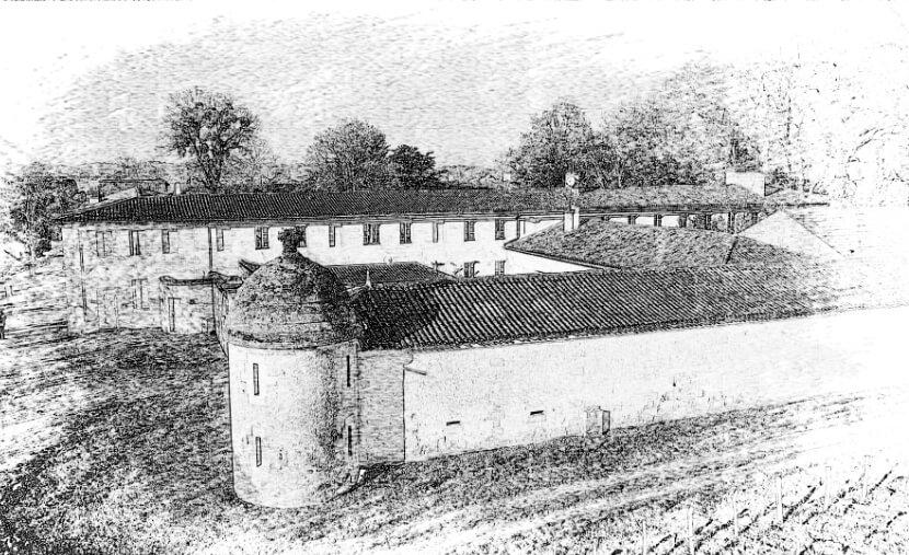 Château Jonqueyres Gravure