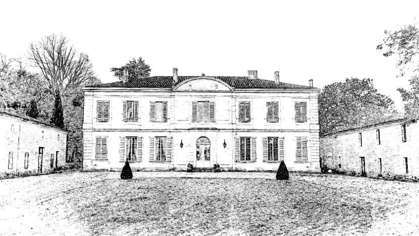 Château Goudichaud Gravure