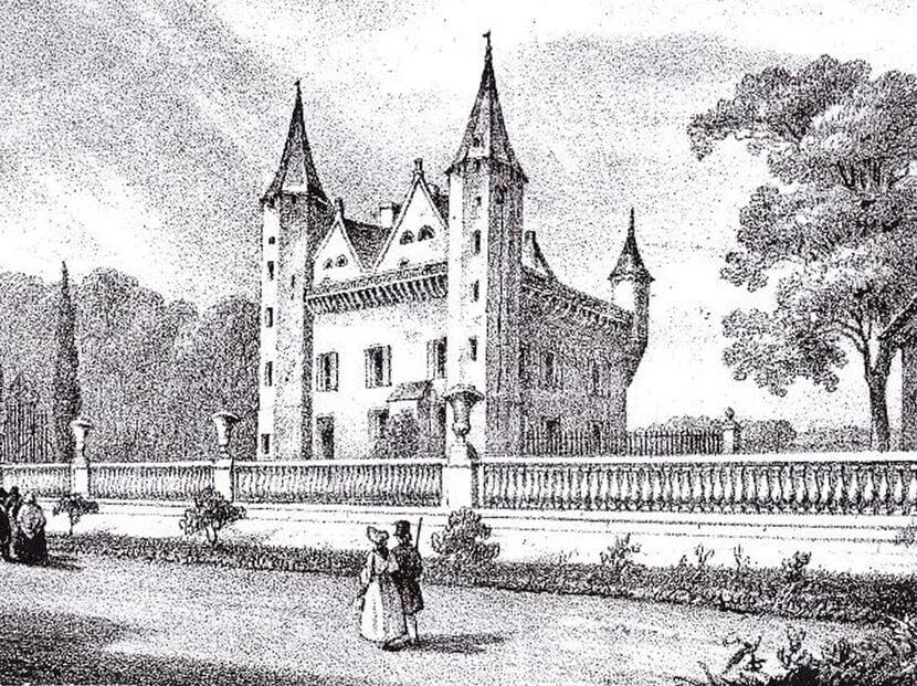 Château Grand Puch gravure