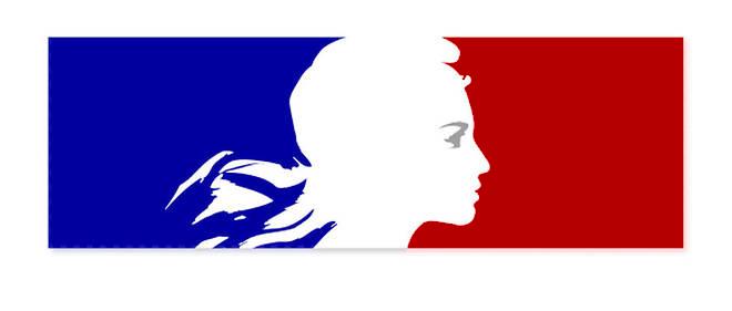 Drapeau français avec la Marianne