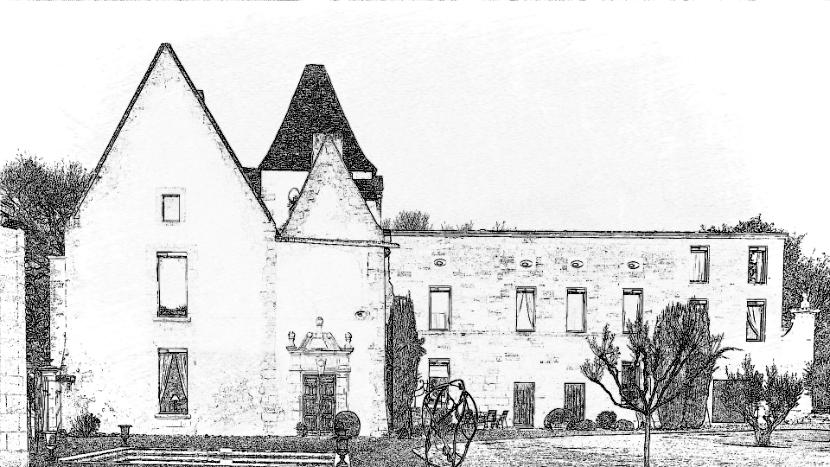 Château Petit Puch Gravure